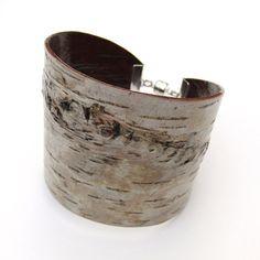 Birch bark cuff bracelet - Heck. Yes. - Etsy $45