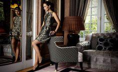 Vestido ladylike brocado. Otoño 2012: Paula Echevarría para SuiteBlanco.