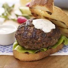California Grilled Lamb Burger with Cumin Yogurt