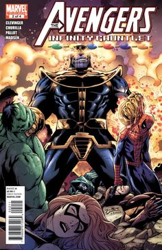 Avengers And The Infinity Gauntlet #2, November 2010, cover by Ron Lim and Sandu Flores