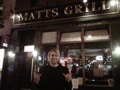 Matt's grill NYC 3-2012 - Matt Walst of My Darkest Days