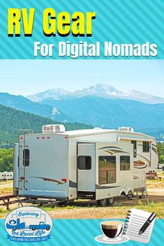 Find out what RV gear you need as a digital nomad. Your remote work office on wheels won't be complete without these items. Travel Hack, Rv Travel, Travel Tips, Time Travel, Rv Camping, Family Camping, Camping Ideas, Glamping, Rv Parks