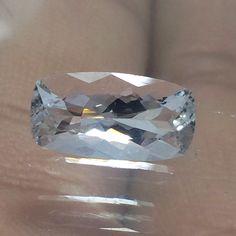 11.3x5.9 mm Goshenite Clear & transparent Beryl 1.8 Ct Cushion Cut Stone Gems