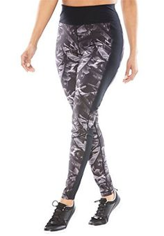 """Product review for Woman Within Women's Plus Size Tummy Control Leggings.  - Innovation for your active lifestyle.Shape your silhouette with leggings that are designed with signature panels. Better still, they are concealed and with a wide waistband that adds to the sleek look.28"""" inseam falls at ankle Imported poly/spandex performance jersey Machine..."""