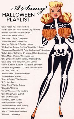 "Halloween songs. Need to remember this when someone says, ""I need some songs for a halloween party."""