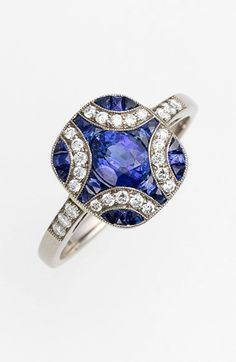 Kwiat 'Vintage' Blue Sapphire & Diamond Ring available at #Nordstrom
