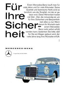 Mercedes S 1960 W111 220 SE Sicherheit