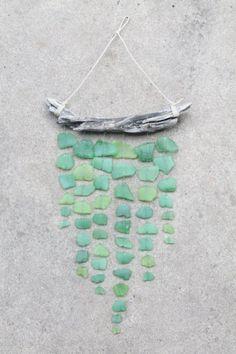 sea glass wind-chime idea