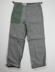 Engineered Garments Workaday Grey Combo Washed Fatigue Pant