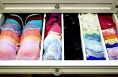 Lingerie drawer organization - by Lisa Adams, LA Closet Design
