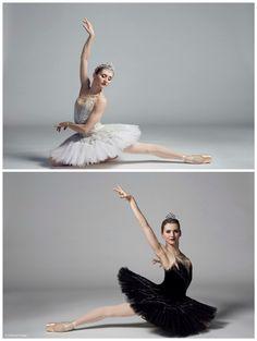 Ballerina Karla Korbes. White swan - black swan. Classical Ballet Swan Lake.