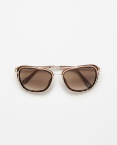 Image 1 of RESIN SUNGLASSES WITH RETRO METAL DETAILS from Zara