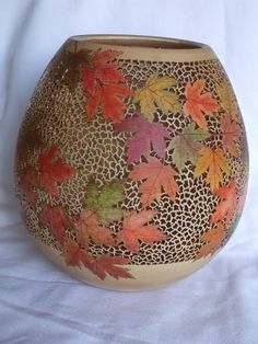 Gallery Hollow, Thin and Pierced - Whimsical Woodturnings Decorative Gourds, Hand Painted Gourds, Wood Mosaic, Mosaic Art, Carillons Diy, Terracotta Plant Pots, Gourds Birdhouse, Gourd Lamp, Native American Pottery