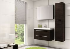 Kwadro 80 2S trufla/truffle #elita #meble #lazienka #kwadro #bathroom #furniture