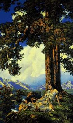 Maxfield Parrish--Hilltop