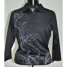 Summer  ladies golf clothing, still arriving daily at From the Red Tees:   Quarter Sleeve Bl...  Be the first to have!  http://www.fromtheredtees.net/products/quarter-sleeve-black-polo?utm_campaign=social_autopilot&utm_source=pin&utm_medium=pin