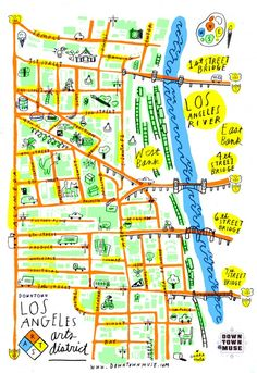 Arts District Map Los Angeles