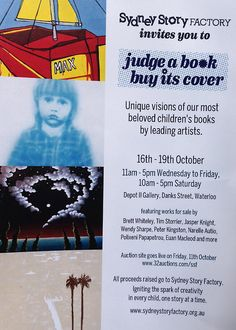 The Sydney Story Factory - JUDGE A BOOK – BUY ITS COVER art exhibition
