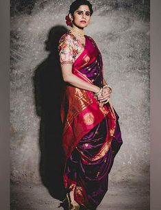 Wardrobe Staple: 16 Traditional Sarees Of India That Every Woman Needs In Her Wardrobe Source by clothes traditional Maharashtrian Saree, Marathi Saree, Marathi Bride, Marathi Wedding, Indian Bridal Outfits, Indian Bridal Fashion, Indian Beauty Saree, Indian Sarees, Saree Poses