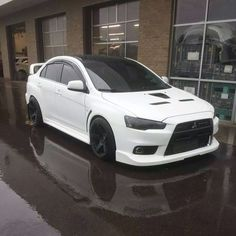 Mitsubishi Evo ❤️ White is definitely my color! Love this!