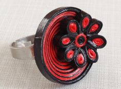 Quilled Paper Ring by Yesterday's news - today's accessories