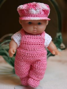 PDF PATTERN Crochet 5 inch Berenguer Baby Doll by charpatterns - lief he