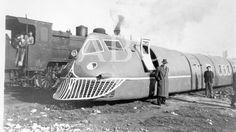 1942. El Talgo I fue el primer tren desarrollado por la empresa española Talgo Bonde, Rail Car, Train Pictures, Train Station, Locomotive, Concept Cars, Futuristic, Diesel, Past