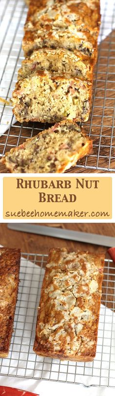 Rhubarb Nut Bread combines tart rhubarb with brown sugar, oil, nuts, and other ingredients - to make the most delicious quick bread of all time!