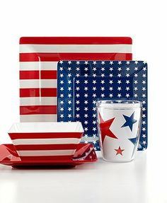 Martha Stewart Collection Star-Spangled Melamine Mix & Match Collection