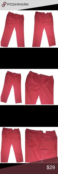 NWT STYLE & Co Pink Tummy Control Jeans Sz 24 W NWT STYLE & Co Pink Tummy Control Jeans Sz 24 W Made of 98% Cotton, 2% Spandex Imported machine wash cold Tummy control panel that keep you in Slim leg style pink jeans Higher Rise Stretch Denim Style & Co Jeans