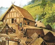 Viking Mead Hall - A large one room building used for feasting and drinking. Mead was an alcoholic beverage made by fermenting water and honey, then adding fruits, spices or hops. Although the Vikings did not invent mead it was an integral part of our ancestor's culture.