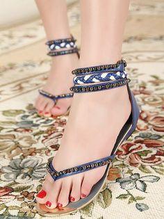 70387e7e4f75f BLING BLING Pearl design Bohemian style Sandal