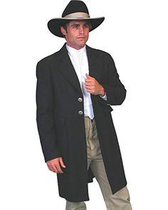Wahmaker By Scully Mens Long Ruffle Frock Coat 567009 Black