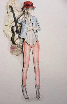 Fashion drawing/ Illustrationen