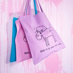 Dare to be more than average and admit that you believe in unicorns. With this tote you can share the important message all around while carrying things. Unicorns, Amethyst, Reusable Tote Bags, A Unicorn, Amethysts, Unicorn