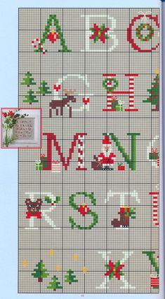 Christmas Alphabet- chart 1