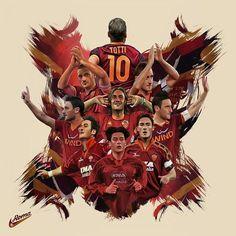 One love one jersey ..c'e solo un capitano FRANCESCO TOTTI @officialasroma #romaphotocontest #asroma #romaart #romagram #legends #roma#asroma1927 #totti #francescototti #ft10 #footballlife #digitalart #footballlegend #gladiator #caesar #king #serieatim #seriea #ilpupone #ilbimbodeloro #italian #rome
