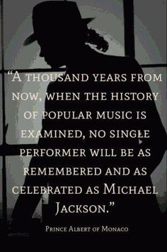 Michael Jackson; the greatest entertainer of all time , and you better know it ..
