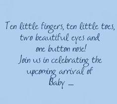Baby Shower Invitation Wording | Wording For Your Baby Shower Invites ~ Samples Of Sayings For Your ...