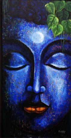 Buddha Painting, Buddha Art, Indiana, Moonlight Painting, Art Painting Gallery, Gautama Buddha, Radha Krishna Pictures, Paintings For Sale, Buddhism