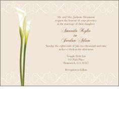 Calla Lily Invitation Wedding invitation by everafterdesign6, $15.00