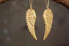 On the Wings of Love Angel Wing Earrings by ChristineDomanic, $18.00. I love wings!