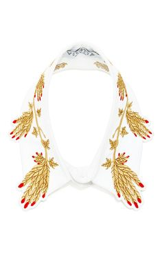 White cotton eracle hand design collar by VIVETTA Now Available on Moda Operandi
