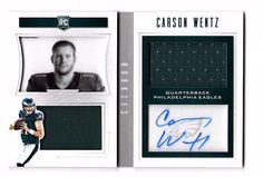 Carson Wentz  2016 Playbook RC Dual Patch Auto #27/99 Philadelphia Eagles  | eBay