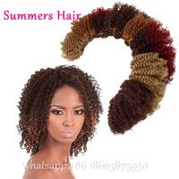 "Cheap Price Mixed Synthetic Hair Weaving Curly 8""Afro Kinky Curly 2pcs Bundles Unprocessed Jerry Curl Hair Weave Bohemian Hair"