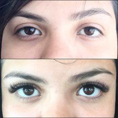 Before and after volume lashes by Jazzy Volume Lashes