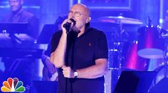 "Phil Collins at age 65 performing ""In the Air Tonight"" on the Tonight Show with Jimmy Fallon. Love his music."