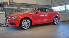 Brilliant red Audi A3