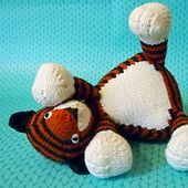 Tubby Tiger // knit toy pattern