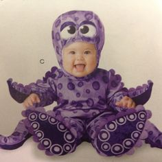 Baby octopus Halloween costume! I'm so determined for my kids NOT to be a pumpkin or a bee!